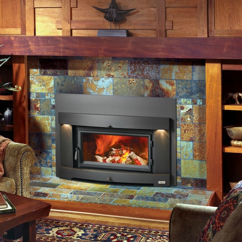 Modern wood burning fireplace inserts Contemporary wood fireplace insert